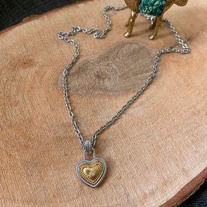 Diamonds International Diamond Gold Heart Necklace